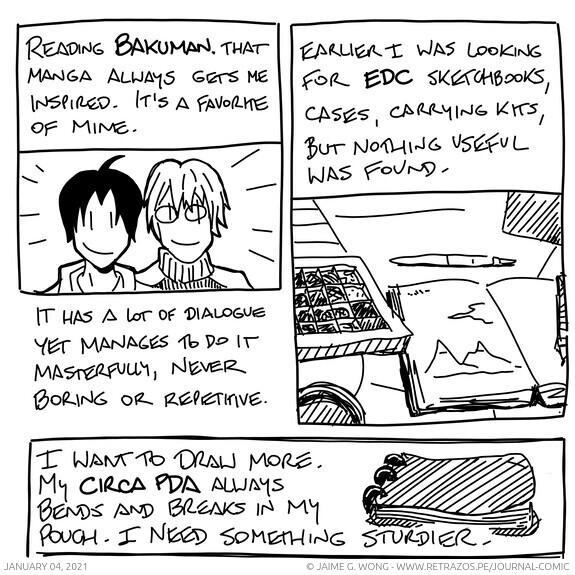 Bakuman and EDC sketchbooks