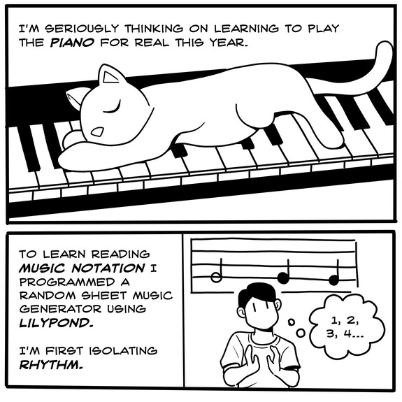 Learning to play the piano for real