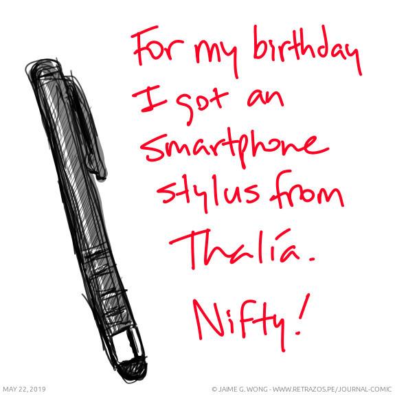 An smartphone stylus
