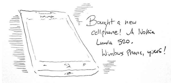 Bought a new cellphone!
