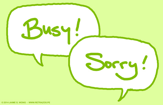 Busy! Sorry!