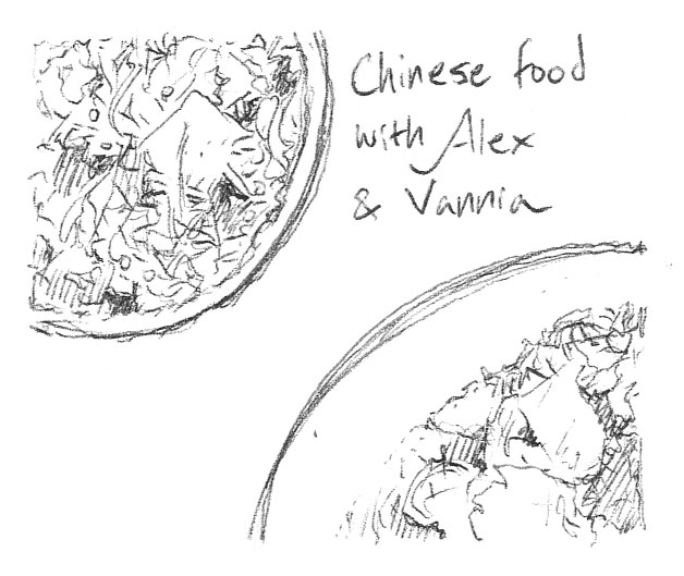 Chinese food with Alex and Vannia