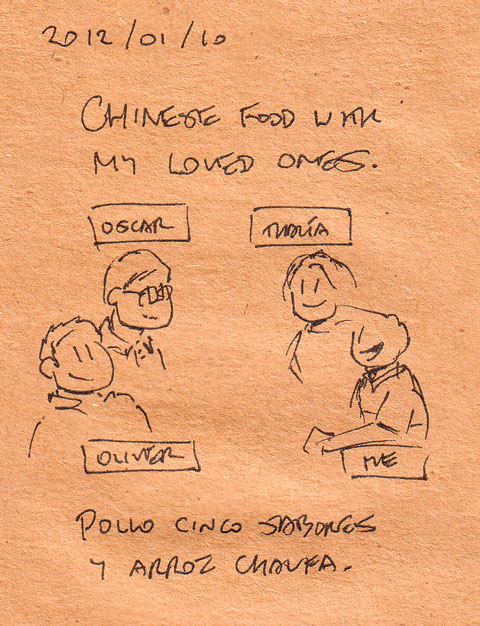 Chinese food with my loved ones