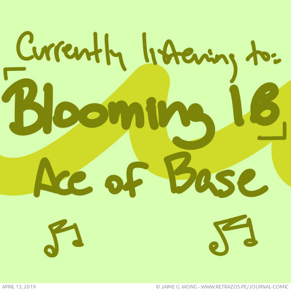 """Currently listening to: """"Blooming 18"""" by Ace of Base"""