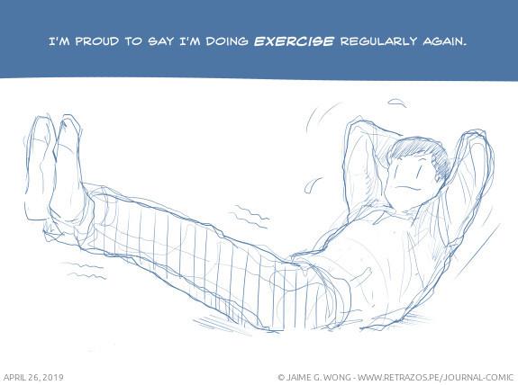 Doing exercise regularly again