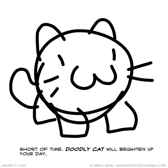 Doodly cat will brighten up your day