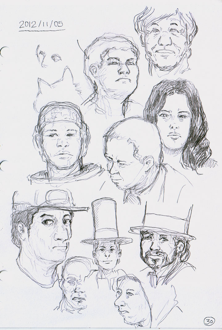 Drawing heads from imagination