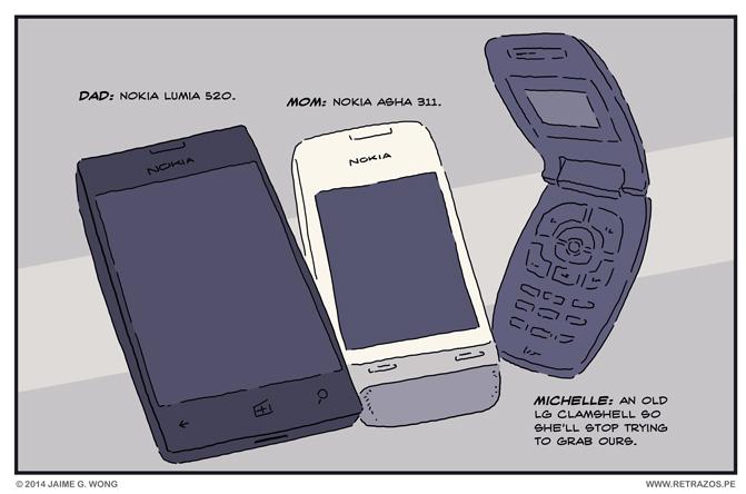 Family cellphones