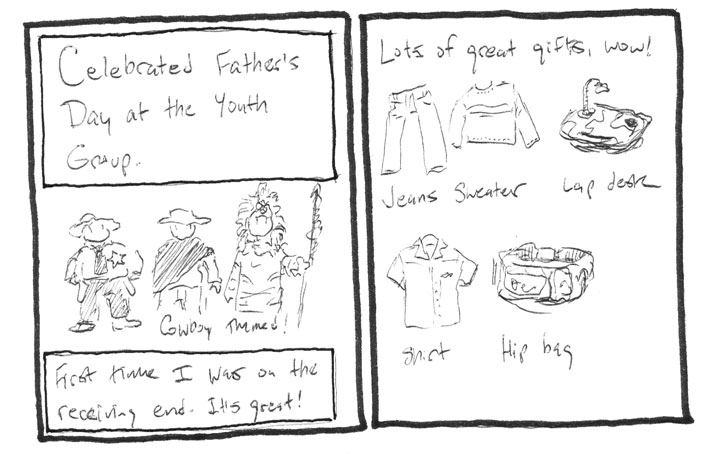 Father's Day at youth group