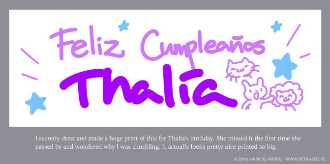 ¡Feliz cumpleaños, Thalía!