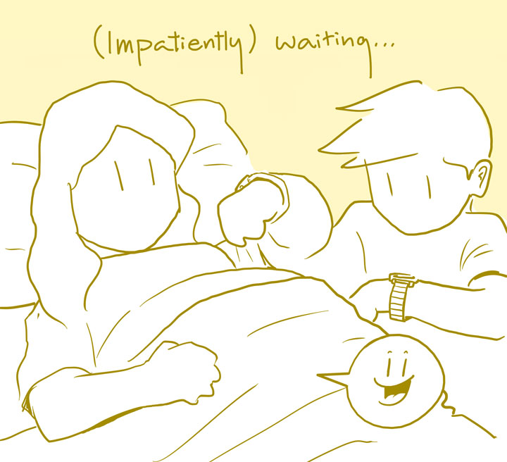 (Impatiently) waiting