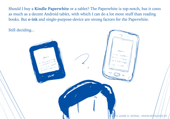 Kindle Paperwhite or tablet?