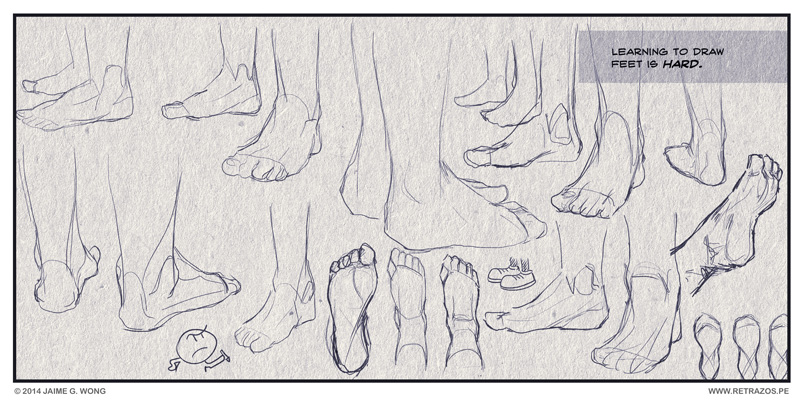 Learning to draw feet is hard