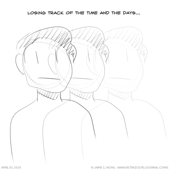Losing track of the time and the days