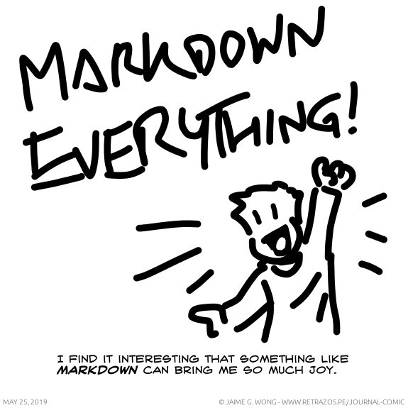 Markdown everything!