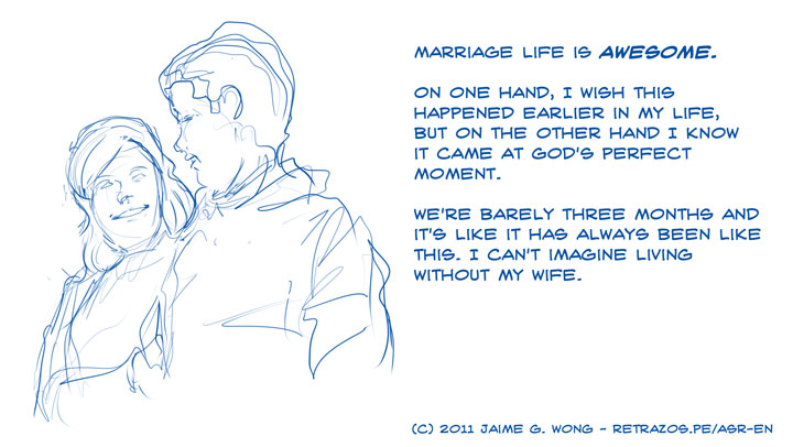 Marriage life is awesome