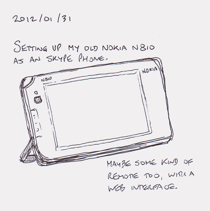 N810 as Skype phone