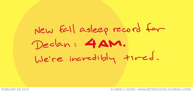 New fall asleep record