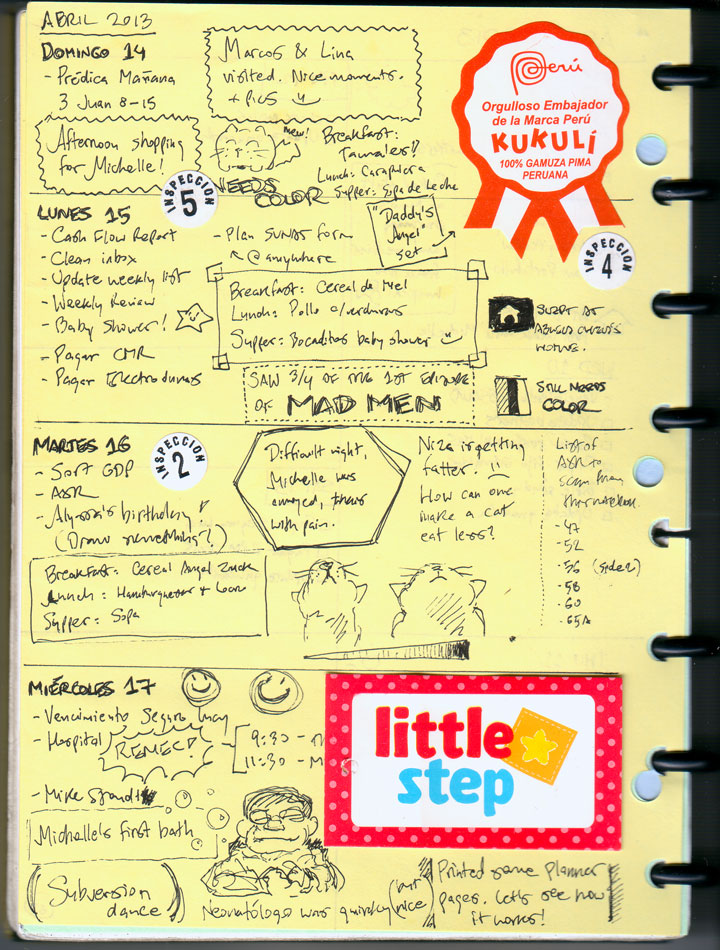 Paper planner prototype
