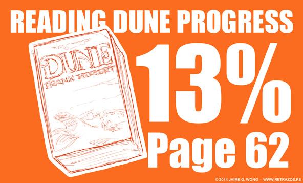 Reading Dune progress: 13%