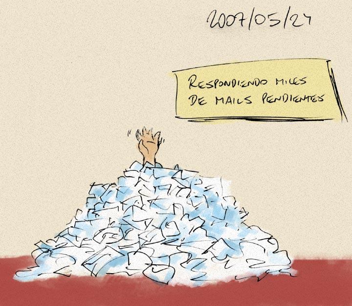 Respondiendo miles de mails
