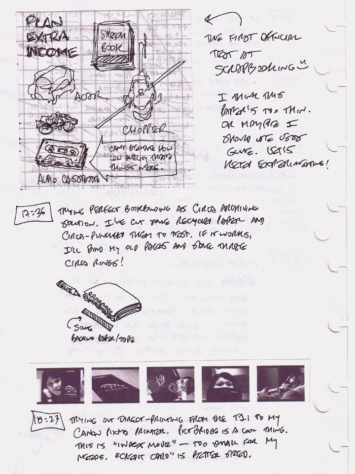 Scrapbooking, archiving and PictBridge