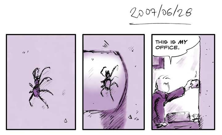Spiders, out!