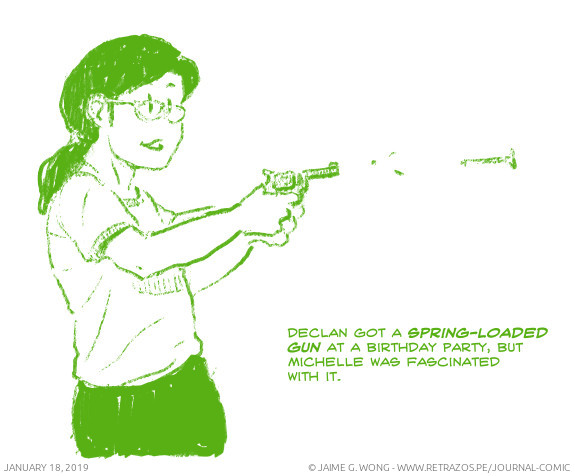Spring-loaded gun