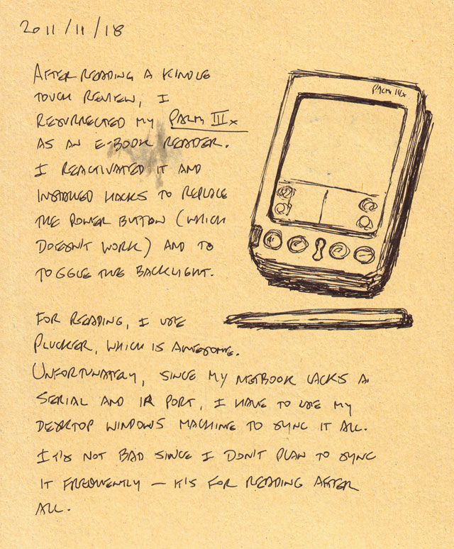 The old-school e-book reader
