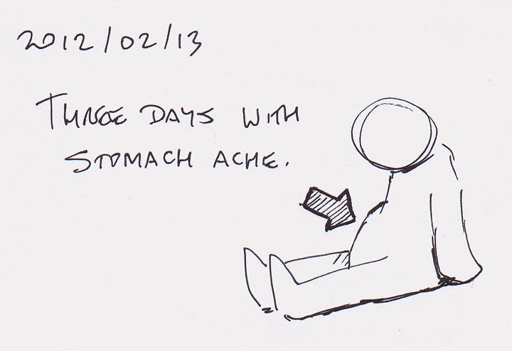 Three days with stomach ache