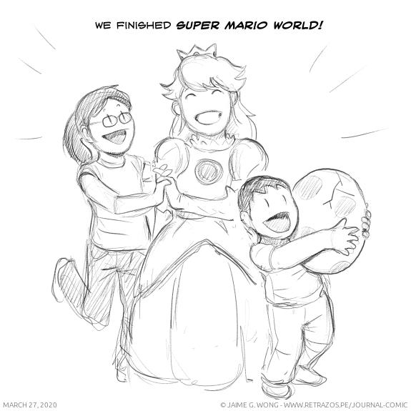 We finished Super Mario World!