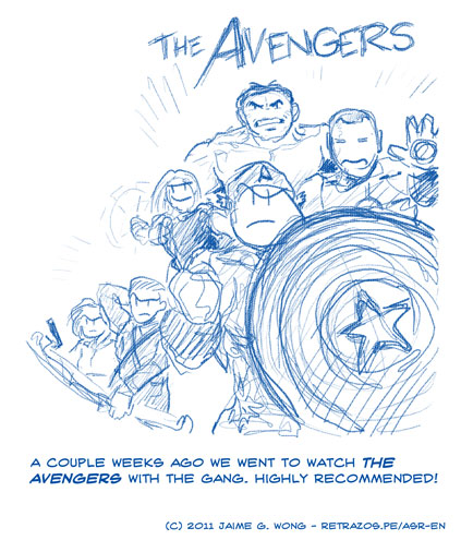 We went to see The Avengers