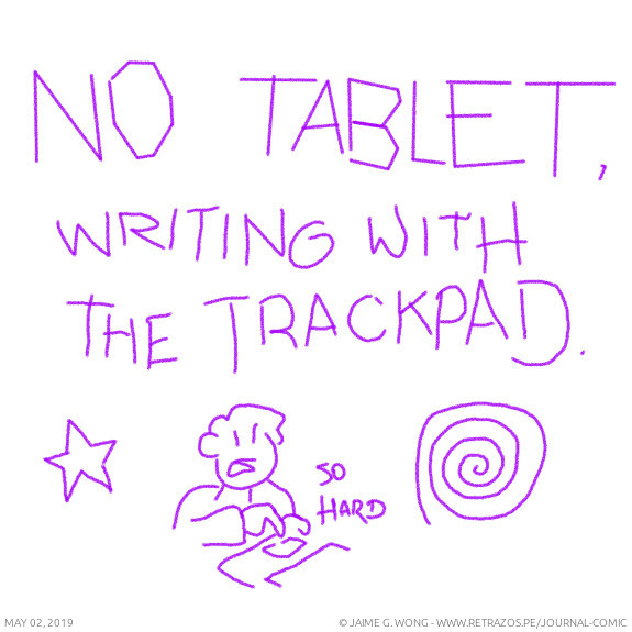 Writing with the trackpad